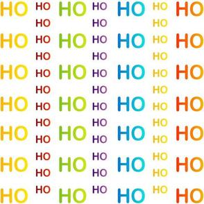 Ho ho ho background colorful typography