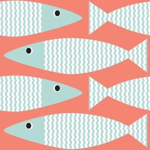 Wavy Bass-  Coral Seaglass - custom
