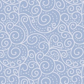Elegant blue swirls