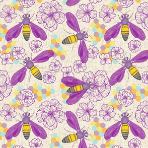Watercolored Bee Pollinator