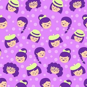 Girls in Purple