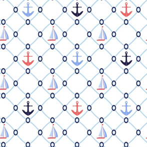 Nautical mesh pattern