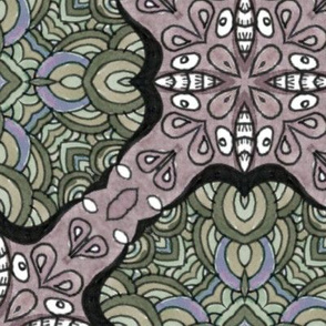 Dames at the Ball - Victoria - Seamless Pattern