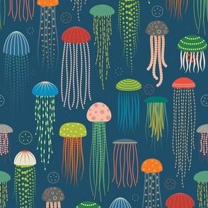 Just Jellies - Lighter Blue Background