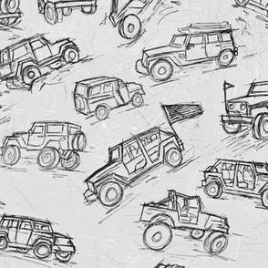 Jeep 4x4 trucks black