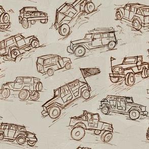 Jeep 4x4 Trucks brown