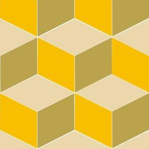 Tumbling Blocks in Trendy 1920s Colors