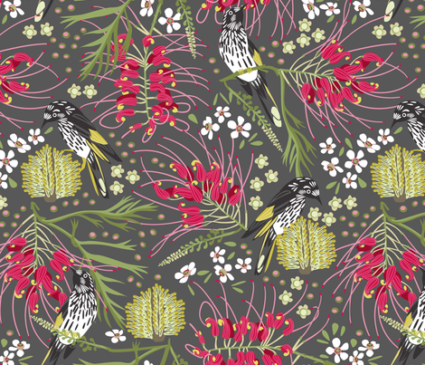 New Holland Honeyeater fabric by cjldesigns on Spoonflower - custom fabric