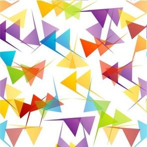 Rainbow mod party mid century triangles