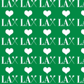 _Heart Lacrosse Green and white