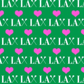 _Heart Lacrosse Green and pink