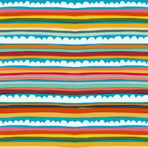 Rainbow Cloud Stripes by Robayre