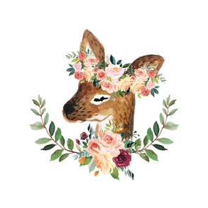 fawn with floral crown 6 loveys