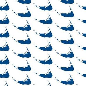 Nantucket Drop in blue on white