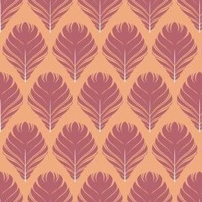 Warm Pink Boho Feathers