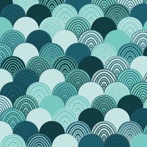 Green Doodle Waves