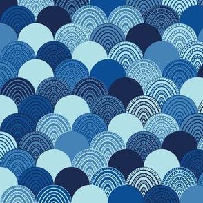 Blue Doodle Waves