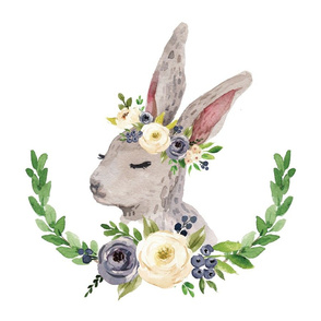 rabbit with floral crown 6 loveys