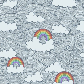 rainbows in the clouds - faded