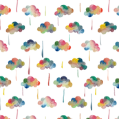 Large rain clouds and rain wallpaper spoonflower