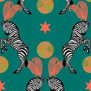 Zebra Circus Teal