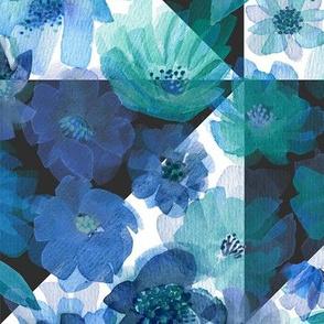 Around the World Geometrics - White&Blue