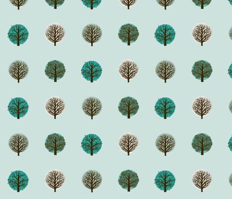 neutral seasons- turquoise fabric by kae50 on Spoonflower - custom fabric