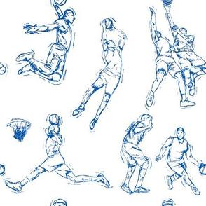 Basketball-Blue on White
