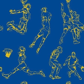 Basketball-Gold on Blue