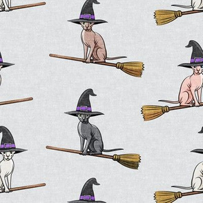 Witch Hats - halloween sphynx -  Sphynx Cats  - Grey - LAD19