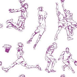 Basketball-Purple on White