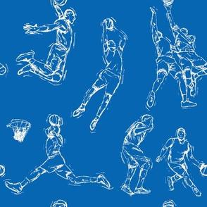 Basketball-White on Blue