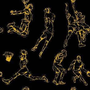 Basketball-Yellow on Black