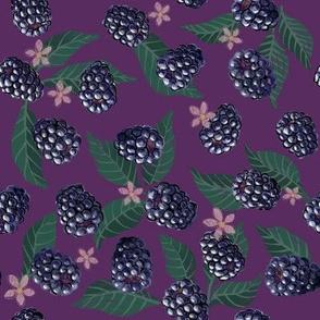 Blackberries and blooms