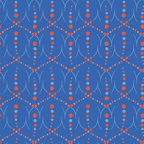 1950s Style Retro Polka Dot Seamless Pattern