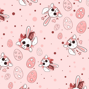 Creepy Cute Pastel Bunny Pink