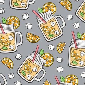 Oranges Lemonade on Grey