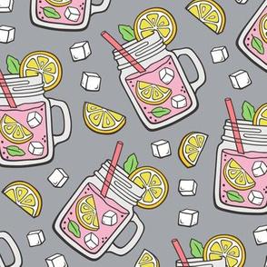 Pink Lemonade on Grey