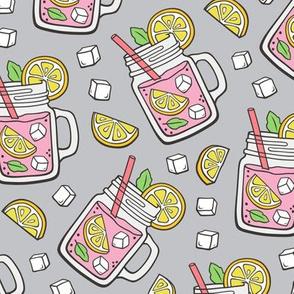 Pink Lemonade on Light Grey