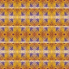 Gold and Purple Spot Pattern