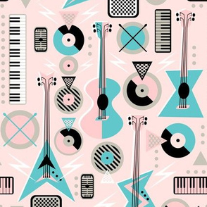 Retro Musical Mayhem on Pink