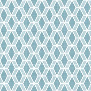 Diamond Hex   Blue (md)