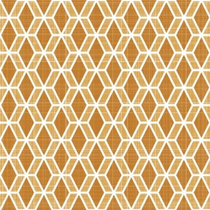 Diamond Hex   Orange (md)