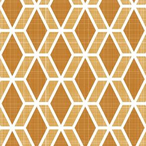 Diamond Hex   Orange (lg)