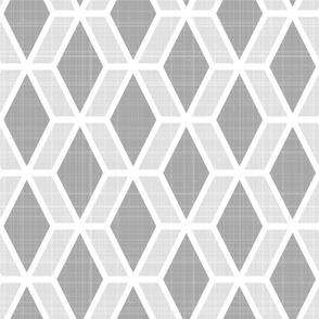 Diamond Hex   Gray (lg)