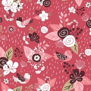 Floral Woodland Pink