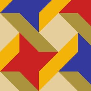 Ribbon Star in Trendy 1920s Colors