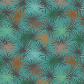 Cook's Pine Needles on Teal - Small