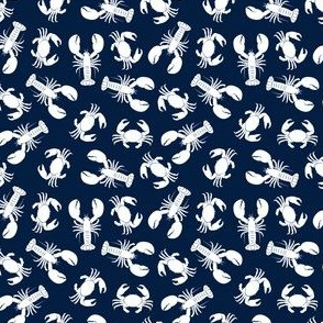 (small scale) lobsters and crabs on navy C19BS