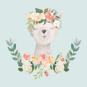 llama with floral crown 6 loveys